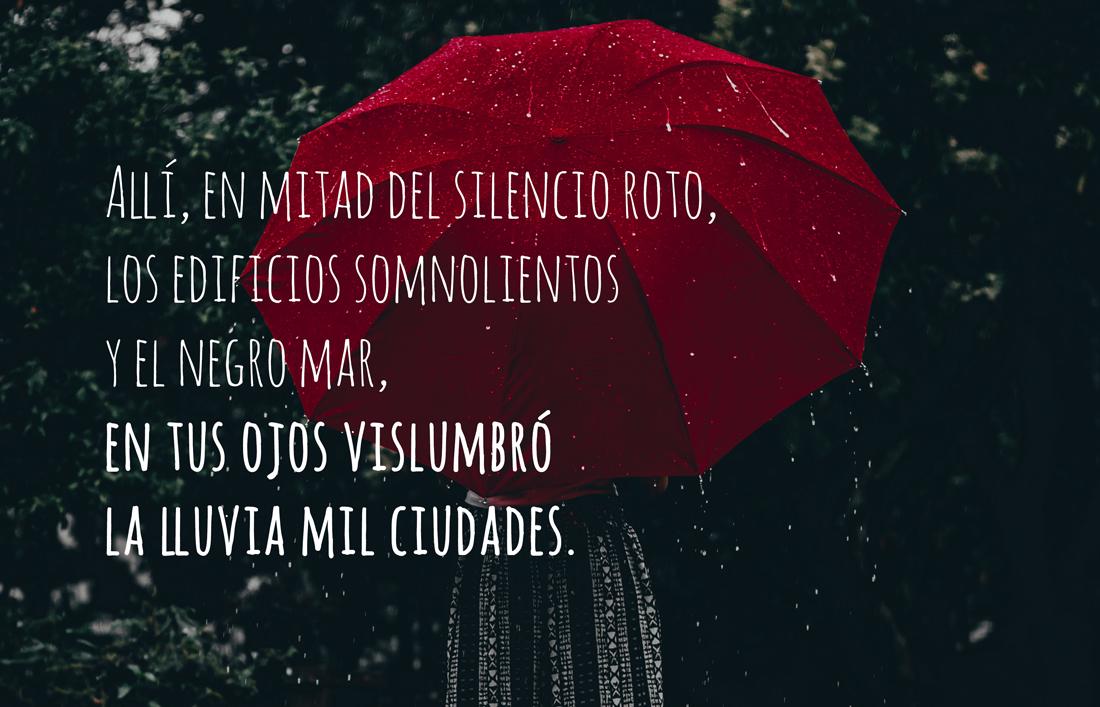 Si supiera hablar la lluvia